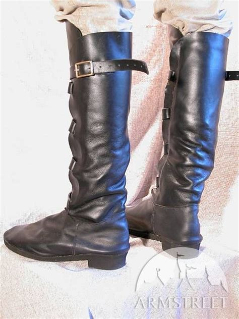 Handmade Renaissance Boots - handmade leather boots for sca and