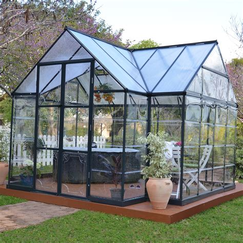 green house kits palram chalet greenhouse kit greenhouses at hayneedle