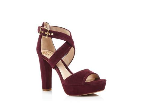 Platform High Heel Sandals lyst vince camuto shayla platform high heel sandals in brown
