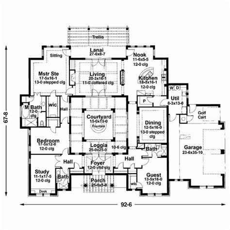 Mediterranean Floor Plans With Courtyard by 157 Best Images About Architecture On Pinterest Best