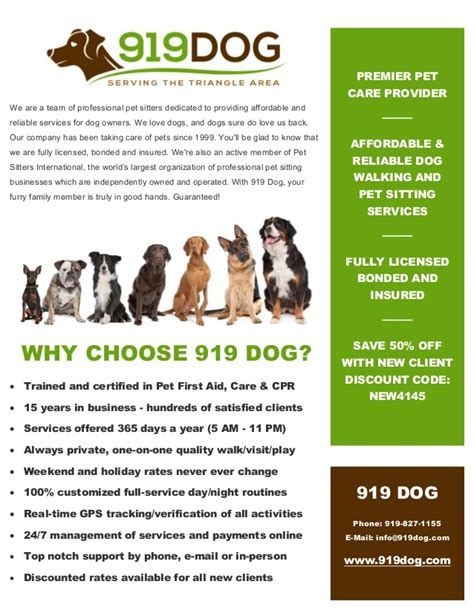 Service Agreement Template Word 919dog com local dog walking amp pet sitting services in