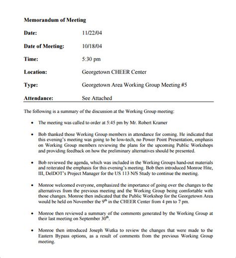 Memo Meeting Template Meeting Memo Template 11 Free Documents In Pdf Word
