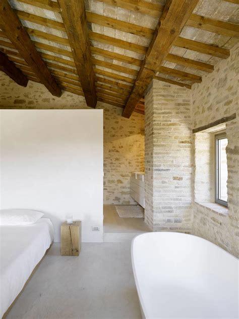 bedroom bathroom home renovation in treia italy by