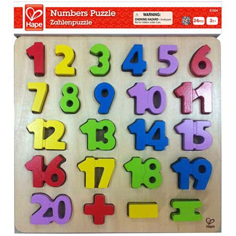 Chunky Puzzle Numbers Puzzle Chunky Angka numbers chunky puzzle from hape another great item from