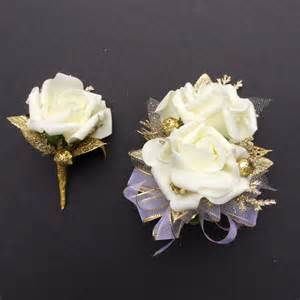 corsage and boutonniere set 50th anniversary corsage and boutonniere set
