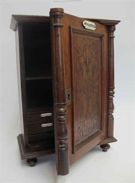 Locking Cabinet by Antique Locking 5 Drawer Footed Medicine Chest