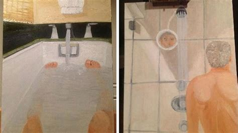 George Bush Paintings Bathtub by George W Bush S Bathroom Self Portraits Laid Bare
