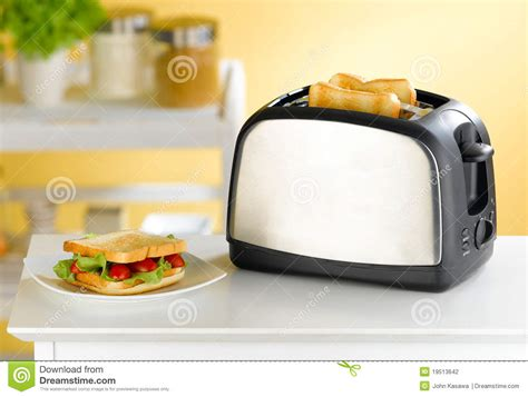 kitchens toaster on counter bread toaster in the kitchen stock photo image 19513642