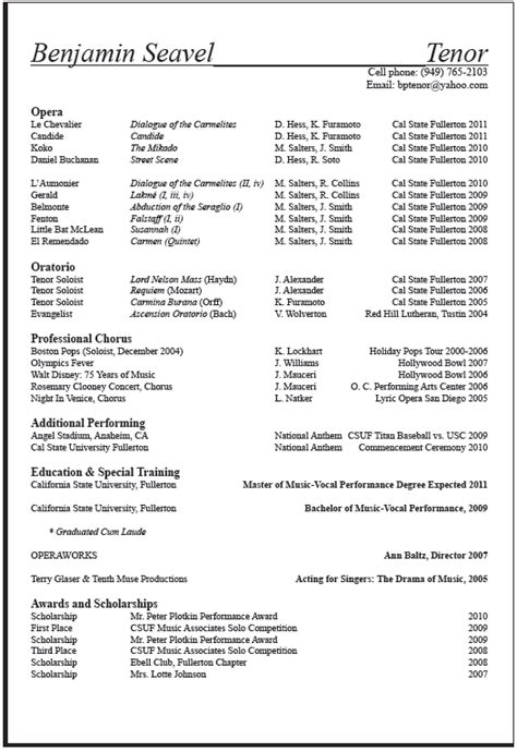 resume format for arts students arts resume sle career center csuf