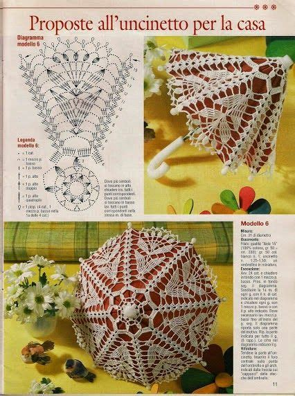 fiori all uncinetto schemi in italiano il di vera maglia uncinetto ombrellino uncinetto con