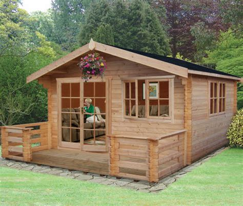 wooden log cabin shire kinver wooden log cabin with terrace what shed