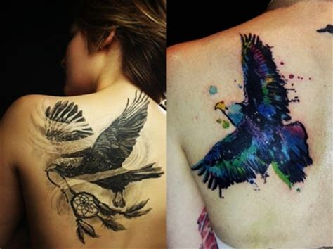 eagle tattoo ladies 7 awesome eagle tattoos for women part 1 everything