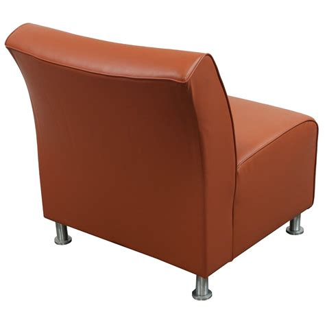 Orange Reception Chairs steelcase used leather reception chair orange