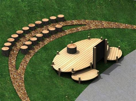 natural amphitheatre benches seating green space