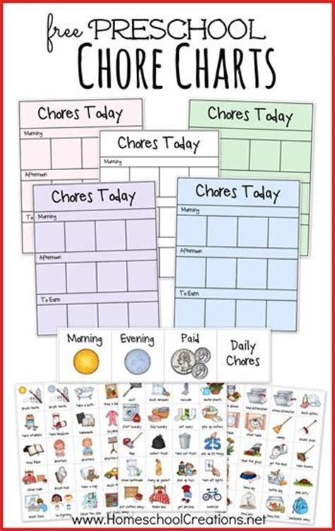 Picture Chore Card Templates by Best 20 Preschool Chore Charts Ideas On