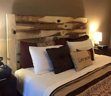 ideas  hacer  cabecero de cama  madera reciclada mil ideas de decoracion