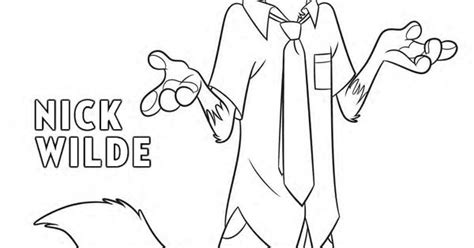 zoo    nick wilde coloring page