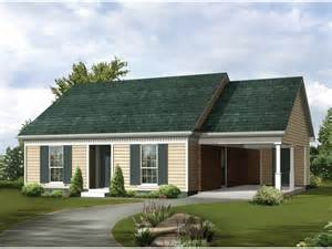 House With Carport Bergman Ranch Home Plan 020d 0030 House Plans And More