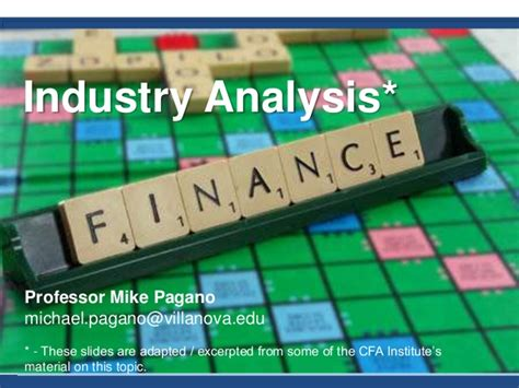Switching Industry After Mba by Mba 8480 Industry Analysis