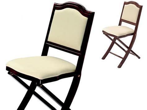 sedia pieghevole design sedia imbottita pieghevole dal design classico idfdesign
