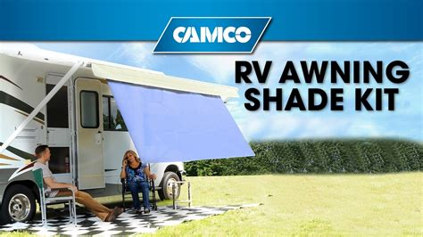 rv awning shade rv awning shade kit youtube