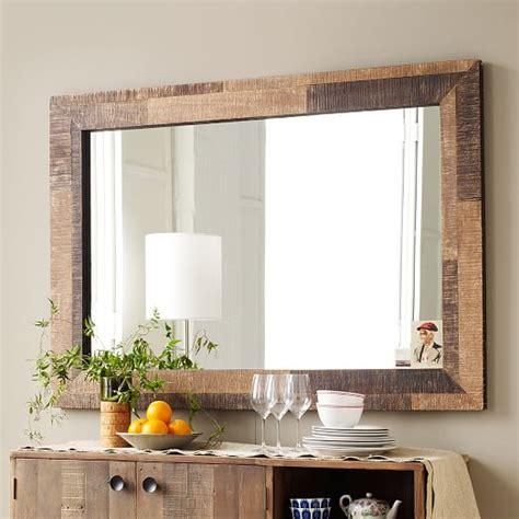 Dining Room Art Decor reclaimed wood wall mirror west elm