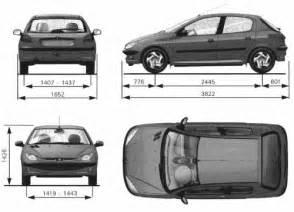 Peugeot 306 Dimensions The Blueprints Blueprints Gt Cars Gt Peugeot Gt Peugeot 206