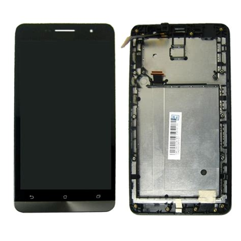 Lcd Zenfone 6 lcd screen touch screen digitizer assembly with frame for asus zenfone 6 a600cg black