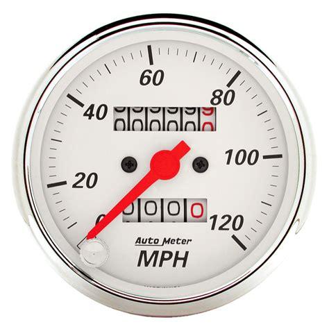 Sepidometer Indikator auto meter 174 1396 arctic white speedometer in dash
