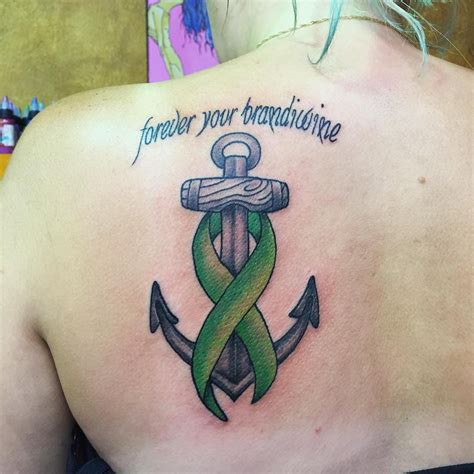 lung cancer tattoos for men anchor cancer ribbon tattoos creativefan