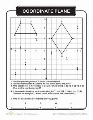Math Worksheets Coordinate Plane by Coordinate Plane Geometry Worksheets Worksheets And Math
