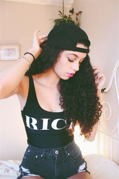 girl hairstyles with snapbacks natural curls and snapback curls curls curls pinterest
