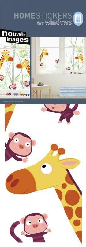 Fenstersticker Kind by Kinder Fenstersticker Giraffe Und Affen
