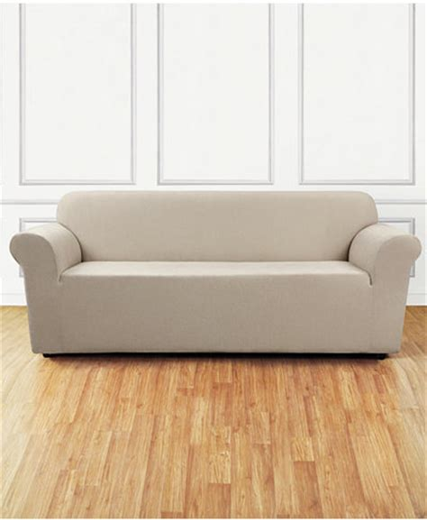 one stretch sofa slipcover sure fit stretch chenille one sofa