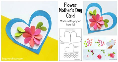 s day card craft ideas template and flower card craft for buggy and