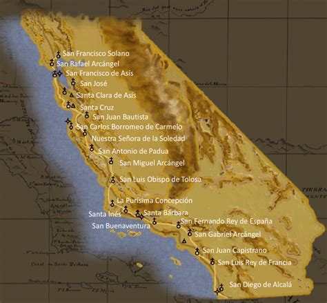 california missions map untitled document users humboldt edu