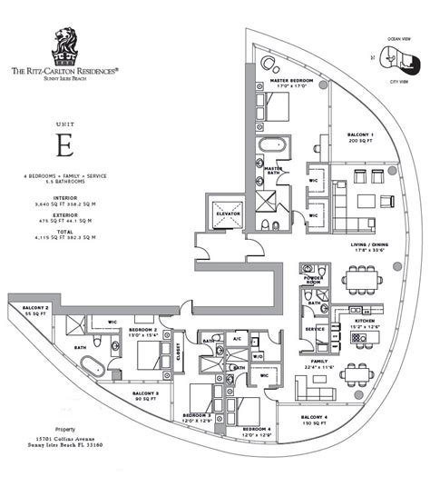 ritz carlton floor plans ritz carlton isles galante real estate