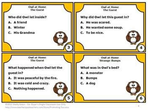 reading task cards comprehension questions and