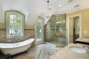 Master Bathroom Designs Pictures by Transitional Master Bath Design Style From Above And