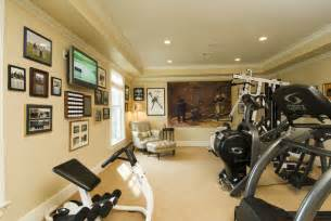 exercise room traditional home bridgeport by