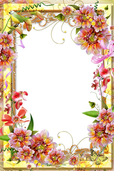 8 Floral And Lovely Projects by Yellow Transparent Frame Flower Wallpaper