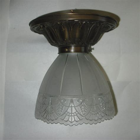 ceiling l shade gillinder glass shade on flush mount ceiling light from