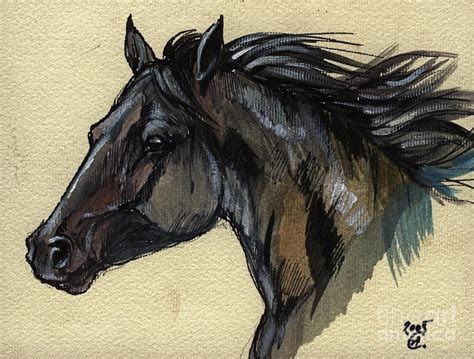 the black horse painting by angel tarantella