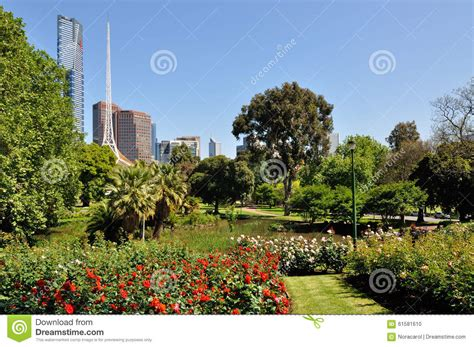 Melbourne Botanical Gardens Parking Royal Botanic Garden Melbourne Stock Photo Image 61581610