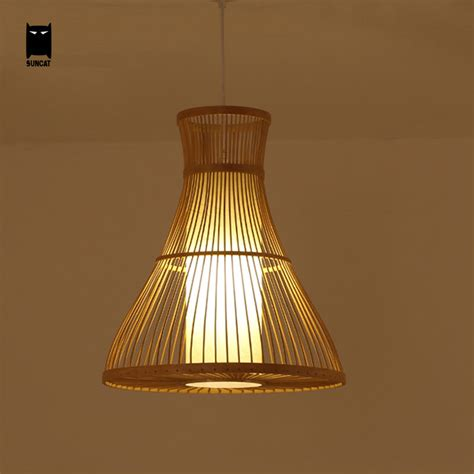 Bamboo Wicker Rattan Pendant Light Fixture Southeast Asia Wicker Lights