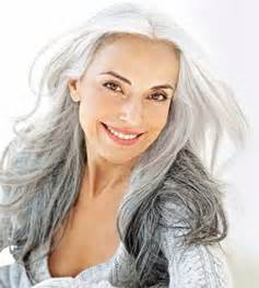 Long grey hairstyles for older women