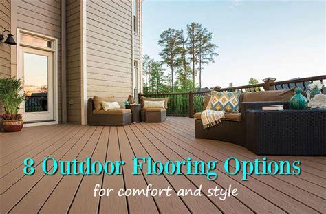 outdoor flooring options  style comfort