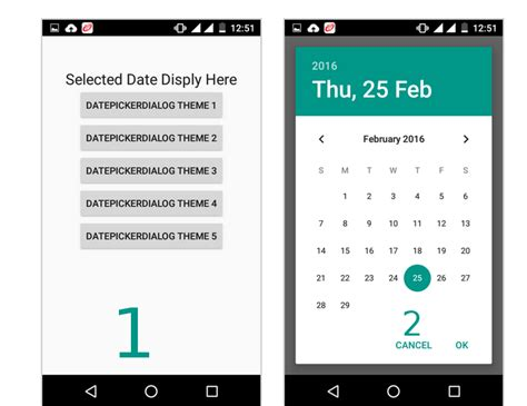 android date how to change the style of a datepicker in android stack overflow