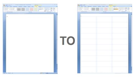 showing gridlines in a ms word label template worldlabel