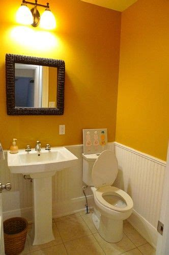 bloombety wainscoting in bathroom ideas with yellow pinterest the world s catalog of ideas